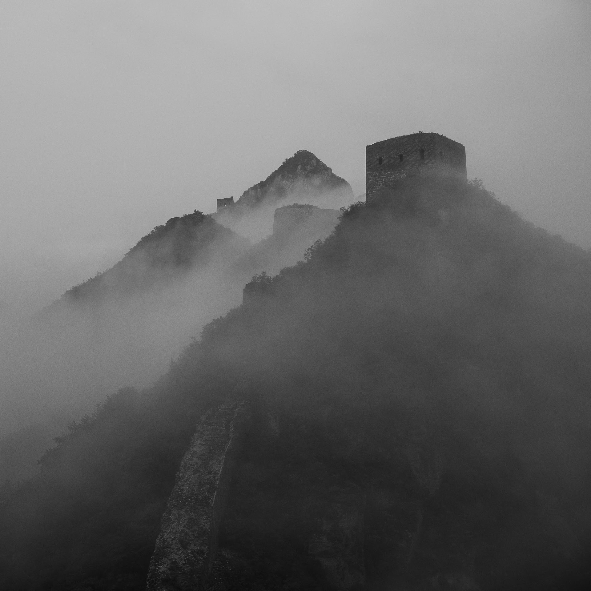 Watch tower of the Great Wall of China at Wuhanshan